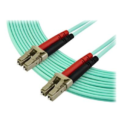 StarTech.com 7m OM3 LC to LC Multimode Duplex Fiber Optic Patch Cable - Aqua - 50/125 - LSZH Fiber Optic Cable - 10Gb (A50FBLCLC7) - patch cable - 7 m - aqua  CABL