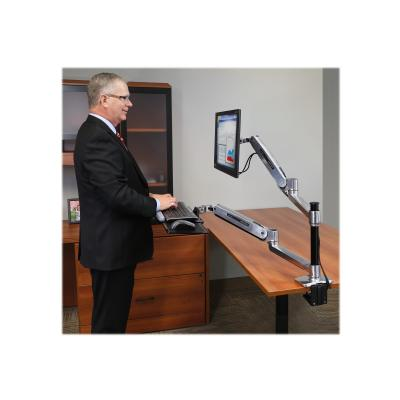 Ergotron WorkFit-LX Sit-Stand Desk Mount System - mounting kit - for LCD display / keyboard / mouse