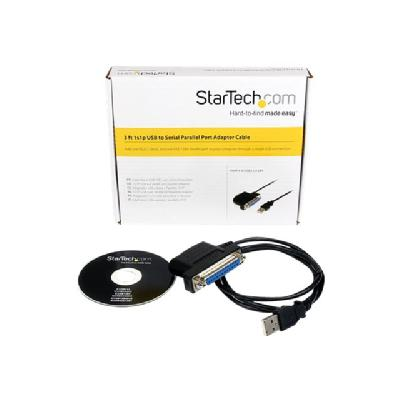 StarTech.com 1s1p USB to Serial Parallel Port Adapter Cable - parallel/serial adapter  CABL