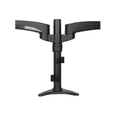 "StarTech.com Desk Mount Dual Monitor Arm - Articulating - Supports Monitors 12"" to 24"" - Adjustable VESA Monitor Arm - Grommet or Desk Mount - Black (ARMDUAL) - mounting kit - for 2 LCD displays (adjustable arm) k or through a grommet with th is desk mount dual m"