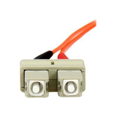 StarTech.com 3m Fiber Optic Cable - Multimode Duplex 50/125 - OFNP - SC/SC - patch cable - 3 m - orange k between fiber network device s  for applications