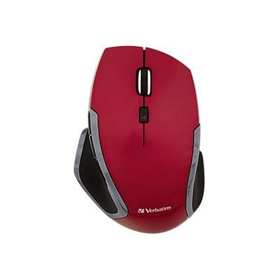 Verbatim Deluxe - mouse - 2.4 GHz - red WIRELESS BLUE LED RED COLOUR