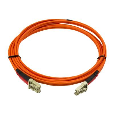 StarTech.com 2m Fiber Optic Cable - Multimode Duplex 50/125 - LSZH - LC/LC - OM2 - LC to LC Fiber Patch Cable (50FIBLCLC2) - network cable - 2 m for high-speed transfers with LSZH rated cable - 2