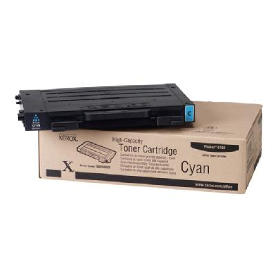 Xerox High-Capacity Phaser 6100 - High Capacity - cyan - original - toner cartridge  5000 pages - Phaser 6100 s at 5% coverage