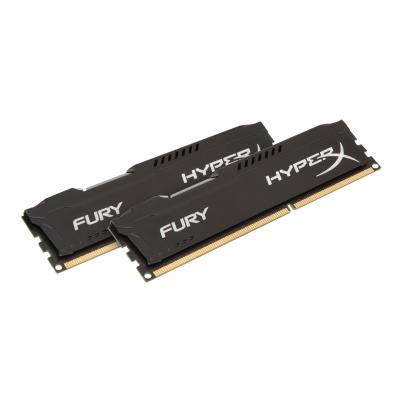 HyperX FURY - DDR3 - 8 Go: 2 x 4 Go - DIMM 240 broches - mémoire sans tampon r ddr3   1600mhz   cl10   1.5 V   240-pin DIMM   t