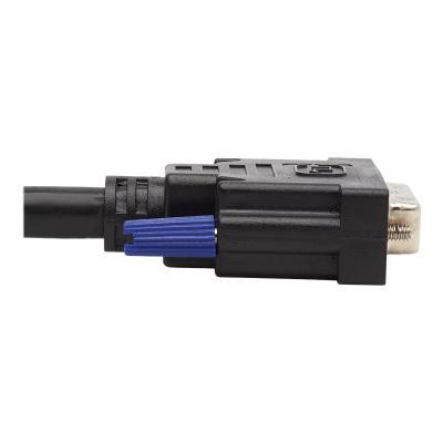 Tripp Lite Dual DVI KVM Cable Kit - DVI, USB, 3.5 mm Audio (3xM/3xM) + DVI (M/M), 1080p, 6 ft., Black - video / USB / audio cable kit - 1.83 m .5 MM AUDIO 3XM/3XM