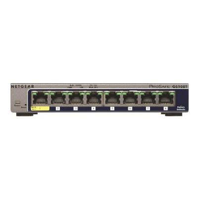 NETGEAR GS108T 8-Port Gigabit Smart Managed Switch - switch - 8 ports - smart (North America)  PERP