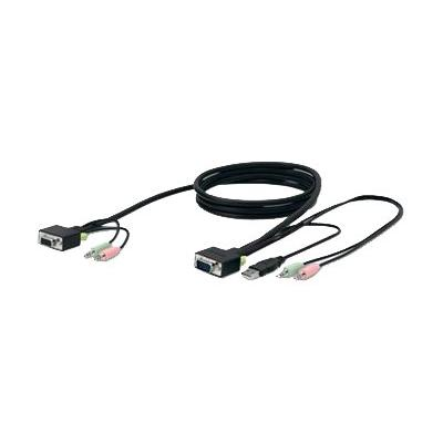 Belkin SOHO KVM Replacement Cable Kit - keyboard / video / mouse / audio cable - 1.8 m - B2B io cable kit - 6 feet - Gray