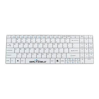 Seal Shield Clean Wipe Waterproof - keyboard - QWERTY - US - white roof  Antimicrobial  Low Profi le Chiclet Style  2.