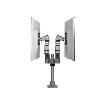 """StarTech.com Desk Mount Dual Monitor Arm, Premium Articulating Monitor Arm, up to 27"""" VESA Mount Displays, Height Adjustable Monitor Mount, Rotating/Swivel/Tilt, Desk Clamp/Grommet, Silver - Easy & Quick Assembly (ARMDUALPS) - mounting kit - for 2 LCD displays (adjustable arm) - TAA Compliant RMNT"""
