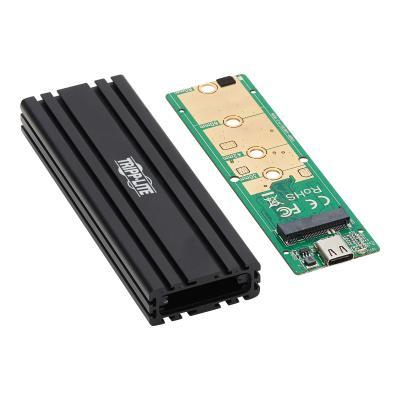Tripp Lite USB-C to M.2 NVMe SSD (M-Key) Enclosure Adapter - USB 3.1 Gen 2 (10 Gbps), Thunderbolt 3, UASP - storage enclosure - M.2 NVMe Card - USB 3.1 (Gen 2) CL ADAPTER