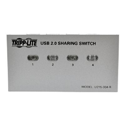 Tripp Lite 4-Port USB 2.0 Hi-Speed Printer / Peripheral Sharing Switch - USB peripheral sharing switch - 4 ports WCH
