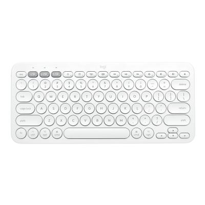 Logitech K380 Multi-Device Bluetooth Keyboard for Mac - keyboard - off-white