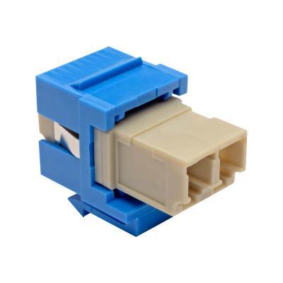 Tripp Lite Duplex Multimode Fiber Coupler, Keystone Jack - LC to LC, Blue - keystone coupler - blue LC LC BLUE