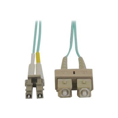 Tripp Lite 3M 10Gb Duplex Multimode 50/125 OM3 LSZH Fiber Optic Patch Cable LC/SC Aqua 10' 10ft 3 Meter - patch cable - 3 m - aqua blue 5CABL