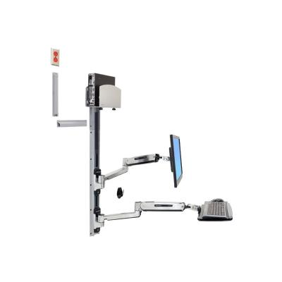Ergotron LX Sit-Stand Wall Mount System - mounting kit - for LCD display / keyboard / mouse / CPU  CPU HLDR