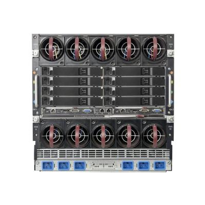 HPE BLc7000 Platinum Single-Phase Enclosure w/6 Power Supplies and 10 Fans w/16 OneView Licenses - rack-mountable - 10U - up to 24 blades  CHIP