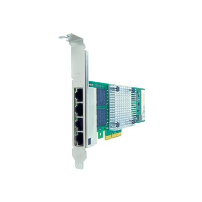 Axiom - network adapter - PCIe 2.1 x4 - Gigabit Ethernet x 4  RJ45 PCIe x4 NIC Card for IBM  - 90Y9352