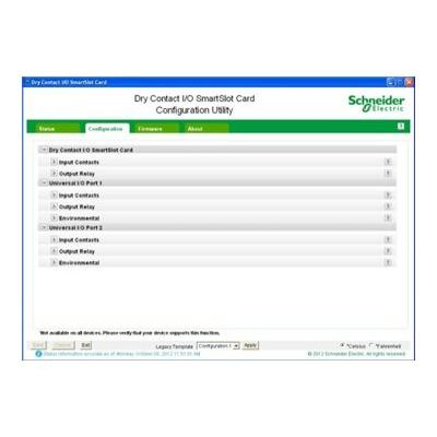 Schneider Dry Contact I/O SmartSlot Card UPS management module