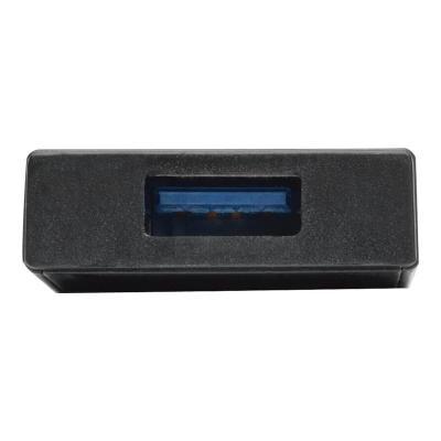 Tripp Lite 4-Port Portable Slim USB 3.0 Superspeed Hub w/ Built In Cable - hub - 4 ports  3.0 SuperSpeed Hub e