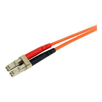 StarTech.com 3m Fiber Optic Cable - Multimode Duplex 62.5/125 - LSZH - OM1 - LC to ST Cat6 Patch Cable (FIBLCST3) - patch cable - 3 m CABLE