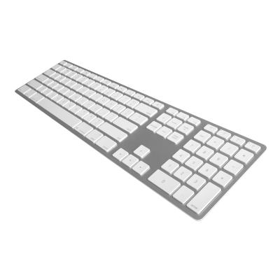 Matias Wireless Aluminum Keyboard - keyboard - US - silver ard  Silver Housing with White  Keycaps  Bluetooth