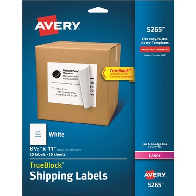 Avery Address Label With Smooth Feed Sheets