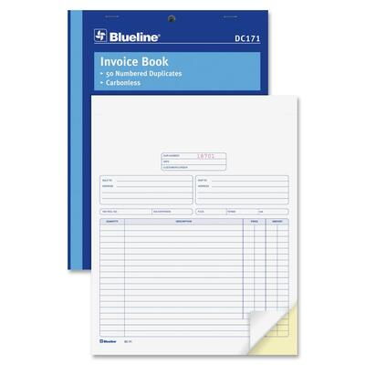 Blueline Invoice Book
