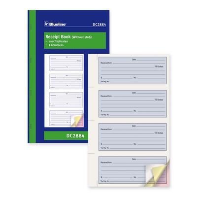 Blueline Receipt Forms Book