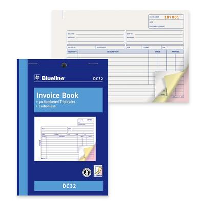 Blueline Invoice Book