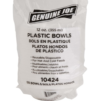 Genuine Joe Reusable Plastic Bowls