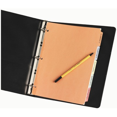 Avery® Plain Tab Write & Erase Dividers, 5 Tabs, Multicolor, (11508) ORDER AS SPECIAL UOM ISSUE SPR ONLY SKU