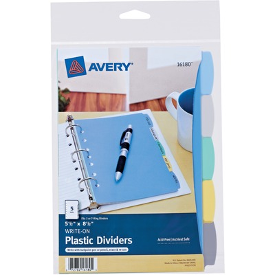 Avery® Mini Durable Write & Erase Dividers