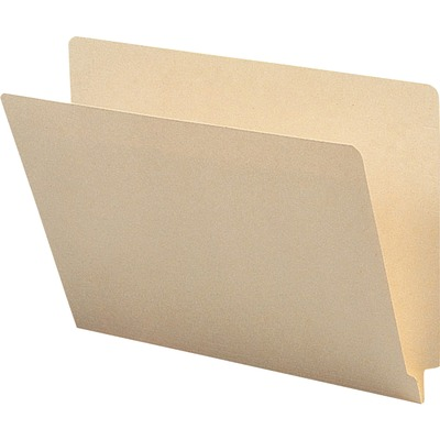 Business Source 1-Ply Straight-cut End Tab Folders