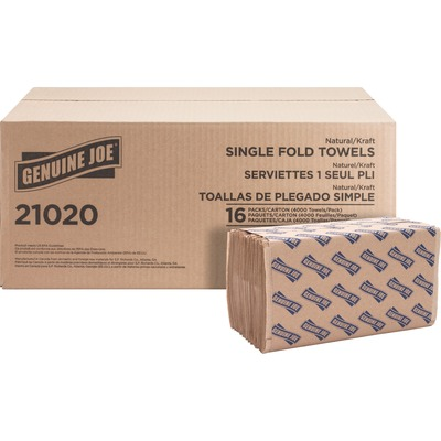 Genuine Joe Single-Fold Value Paper Towels