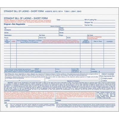 TOPS Bills of Lading Snap-Off Sets