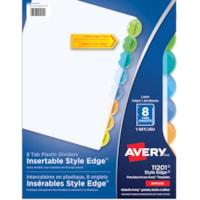 Intercalaires en plastique insérables Style Edge Avery