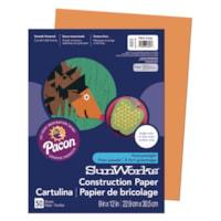 Papier de bricolage à haut grammage SunWorks Pacon, orange, 9 po x 12 po, emb. de 50