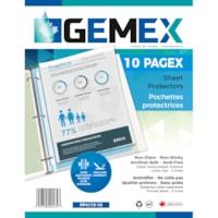 Gemex Top-Loading Polypropylene Sheet Protectors, Super Heavyweight, Non-Glare, Letter Size, 10/PK