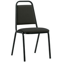 Stacklite Lightweight Stacking Chair, Echo Black, Terrace Fabric
