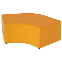 Offices to Go Craft Modular 120-Degree Curve Unit, Tryst Yellow, Waterfall Fabric
