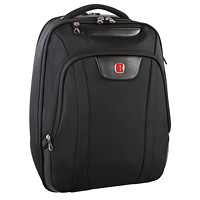 SwissGear Laptop and Tablet Backpack, Black, Fits Laptops up to 17.3