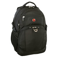 SwissGear Laptop Backpack With USB Port, Black, Fits Laptops up to 15.6