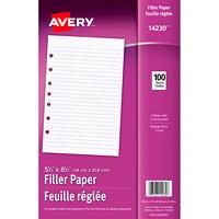 Avery College-Ruled Filler Paper, White, Lined, 5 1/2