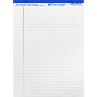 Hilroy Micro-Perforated Business Pads, White, Letter Size, 50 Sheets