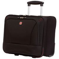 SwissGear Wheeled Laptop Case, Black, Fits Laptops up to 15.6
