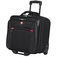 SwissGear 2-in-1 Wheeled Laptop Case, Black, Fits Laptops up to 17.3
