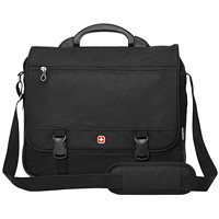 SwissGear Expandable Laptop Briefcase, Black, Fits Laptops up to 15