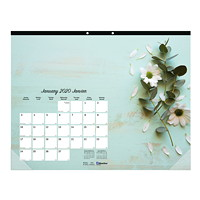 Blueline Romantic Monthly Desk Pad Calendar, 22