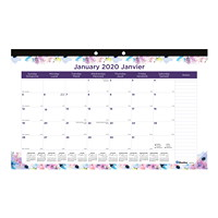 Blueline Passion Monthly Desk Pad Calendar, 17 3/4